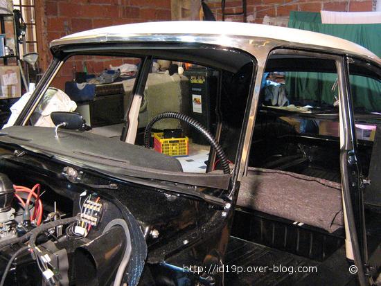 "Classic mini noir volant en cuir 12/"" kit car hotrod semi désaxée"