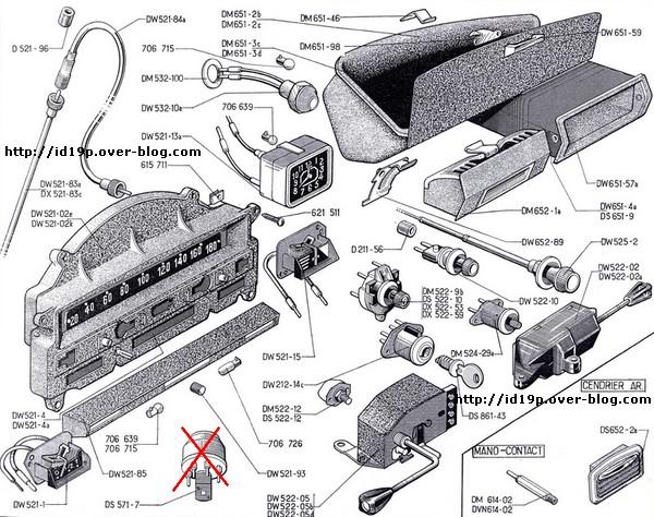 18 dec 2007 Tableau de bord - Citroën id 19 P de 1966